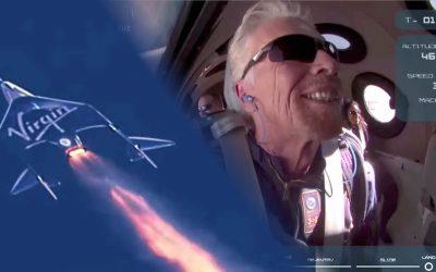 Richard Branson es ahora el primer multimillonario en viajar al espacio (VIDEO)