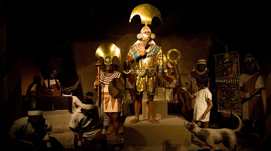 Señor de Sipán, una de las figuras más representativas de la cultura Mochica en el antiguo Perú