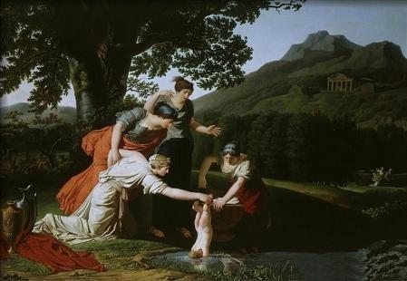 Tetis sumerge a Aquiles en Estigia