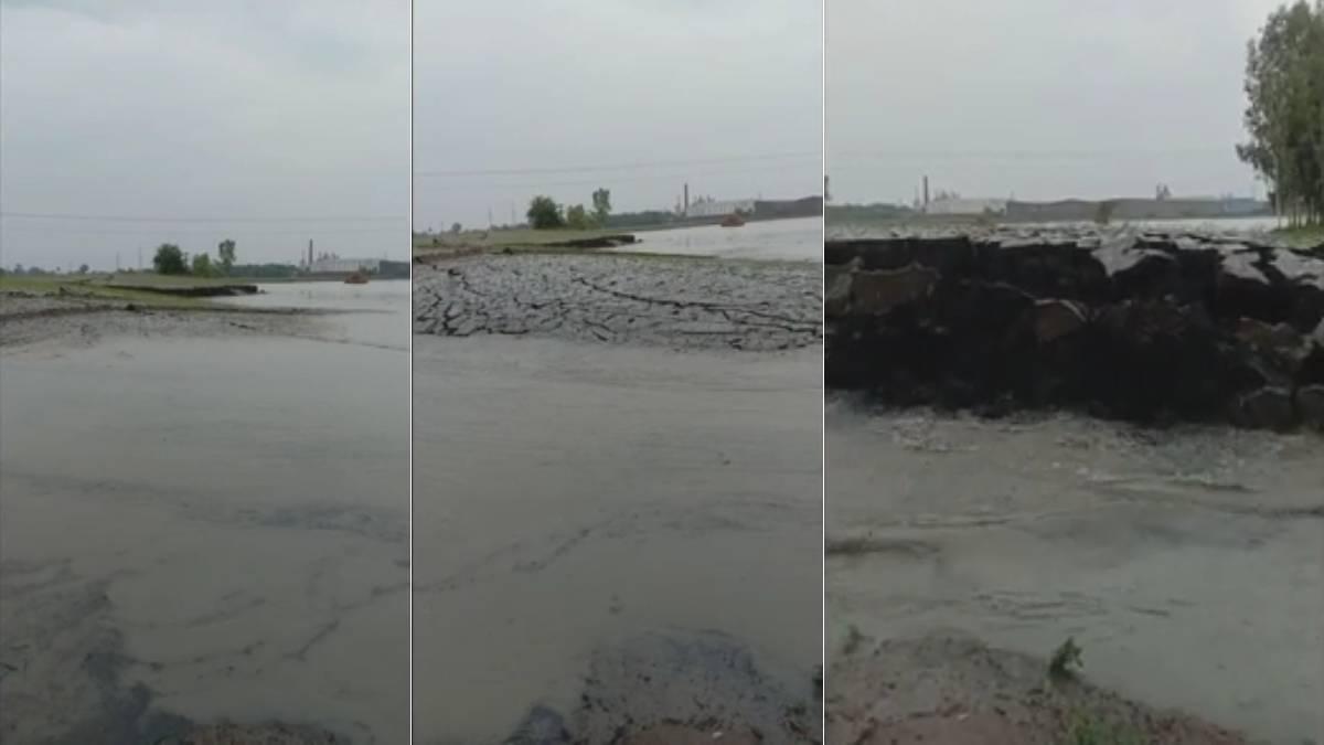 Captura de video que muestra el levantamiento del pedazo de tierra