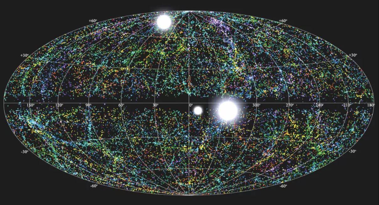 Una ilustración de la rapidez con la que las ráfagas de radio aparecen aleatoriamente en el cielo