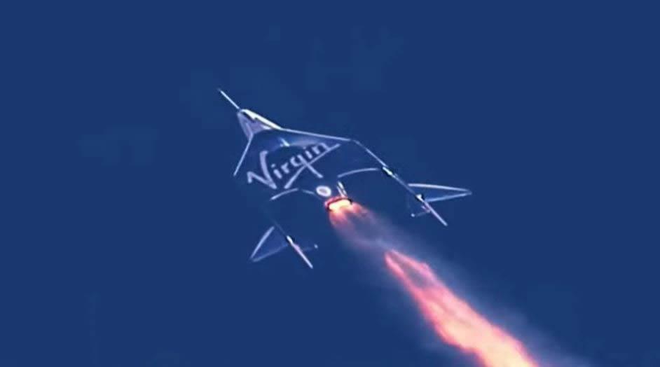 Nave VSS Unity rumbo al espacio