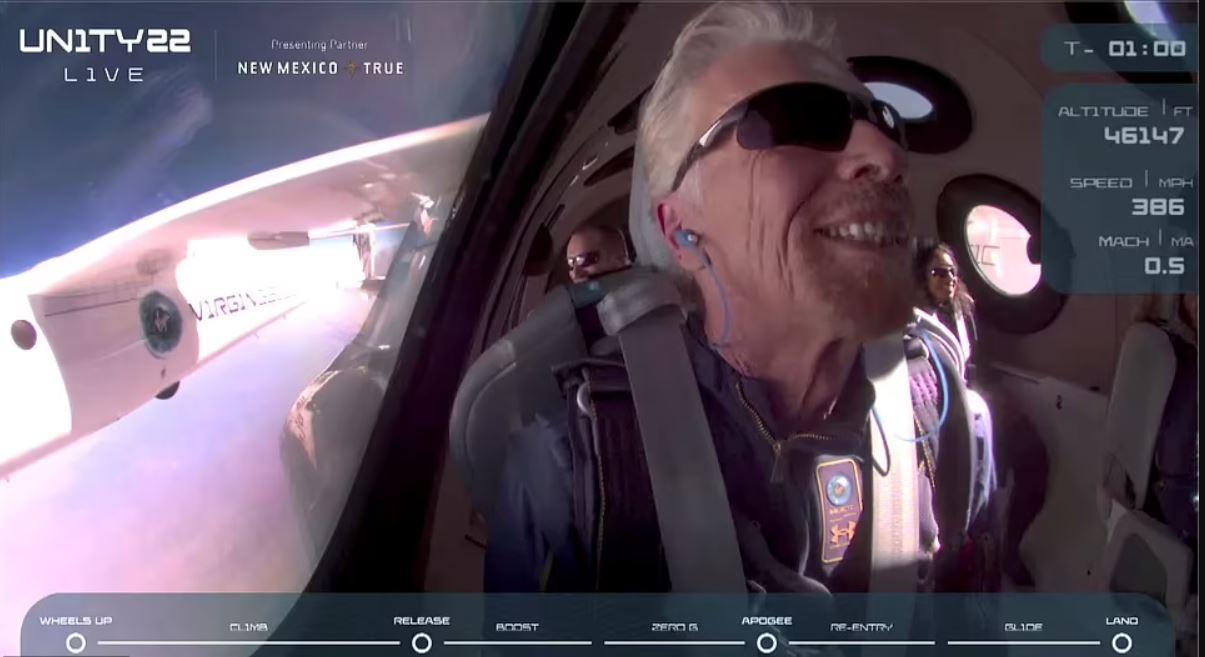 Richard Branson rumbo al espacio
