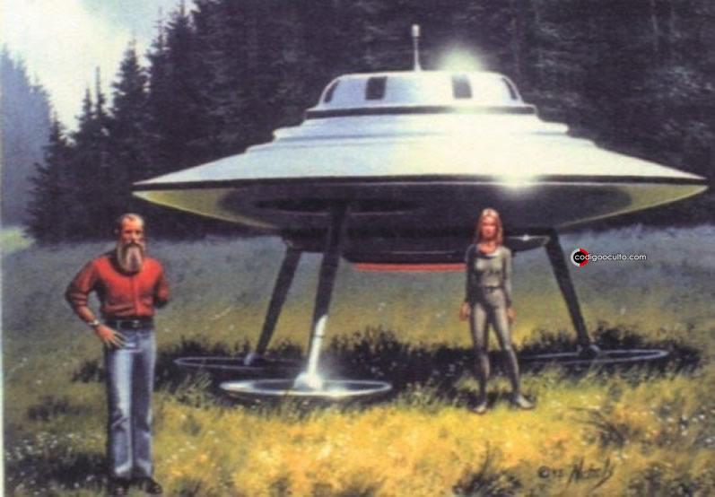 Boceto de Billy Meier y Semjase