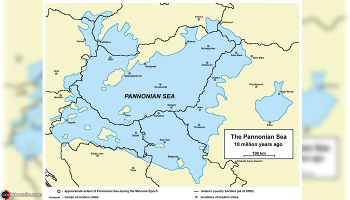 Mar de Panonia, lugar donde los gigantes posiblemente anclaron sus barcos