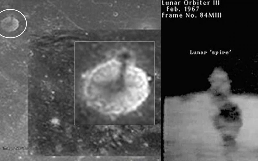 """ENORME estructura en la Luna: ¿Una """"torre artificial"""" en el satélite de la Tierra?"""