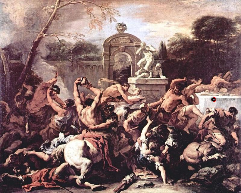 Combate de los Centauros y los Lápitas, de Sebastiano Ricci (1715)