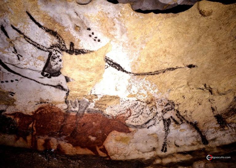 Imagen del mencionado toro con los puntos que representarían las Pléyades por encima de él