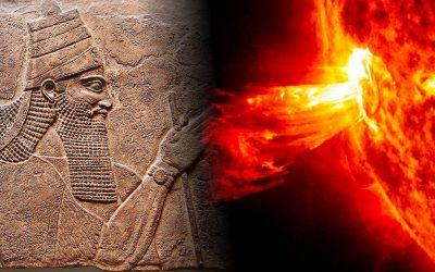 La antigua tablilla asiria que contiene referencias de una enorme tormenta solar