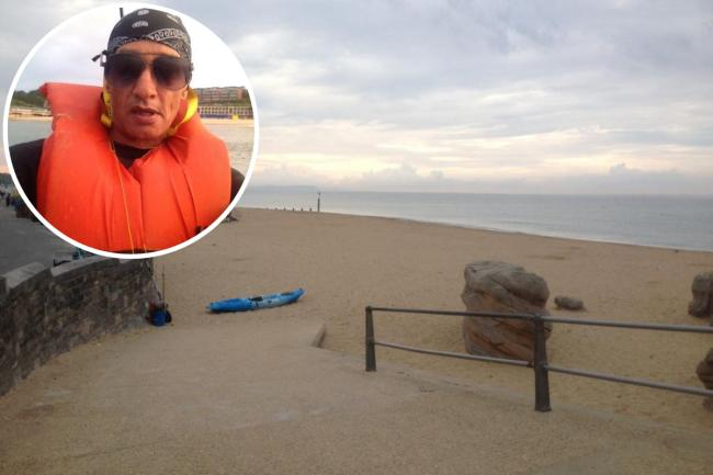 Darron Tapper dijo que tuvo un encuentro con la «criatura marina» de Boscombe