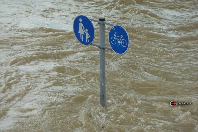 Inundaciones debido a aumento del nivel del mar