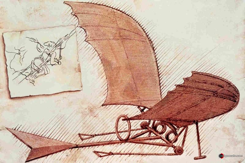 La máquina voladora de Leonardo da Vinci