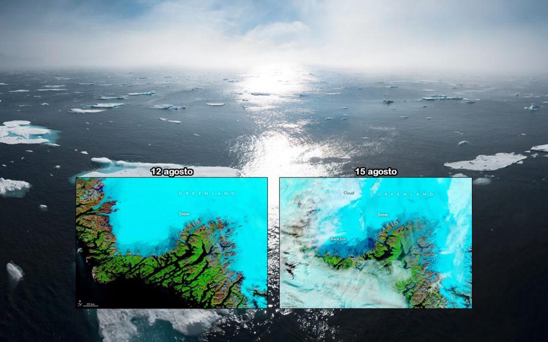 Alerta roja: Llueve torrencialmente en la capa de hielo de Groenlandia, por primera vez en la historia registrada