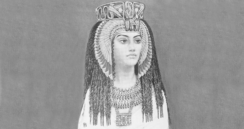 La antigua reina egipcia Khentkaus III de la XVIII dinastía, siglo XIV a.C.