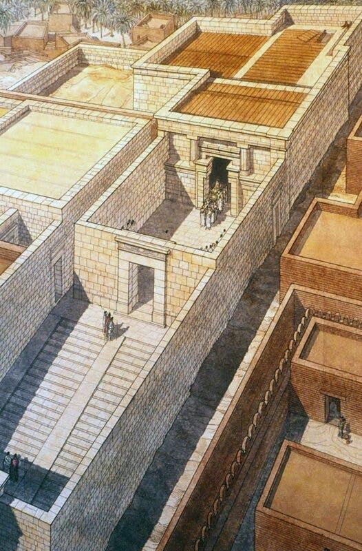 Ilustración del Templo del Oráculo en Siwa
