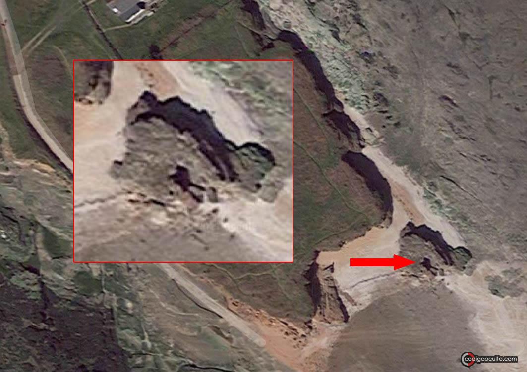Ubicación del misterioso agujero en Hilbre Island