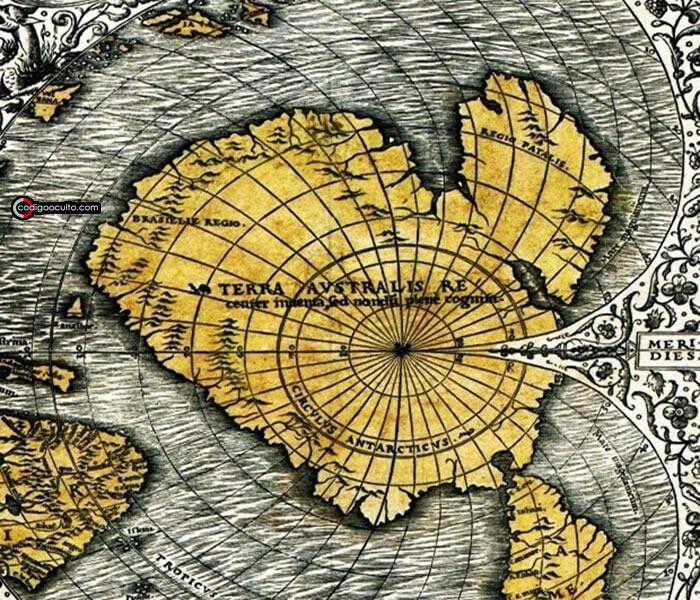 Región de la Antártida del mapa de Orontius Finaeus
