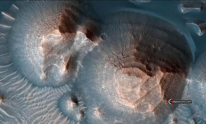"""La NASA ha confirmado que Marte experimentó previamente """"súper erupciones"""" en la región de Arabia Terra (en la foto)"""