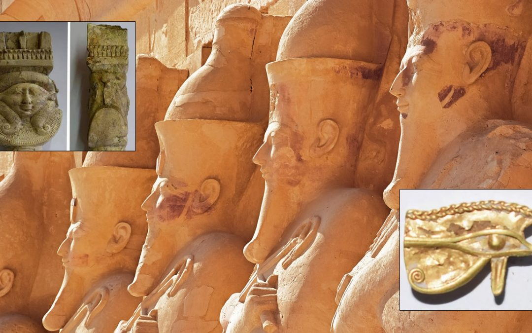 Hallan artefactos en honor a la diosa Hathor en el Templo de los Faraones en Egipto