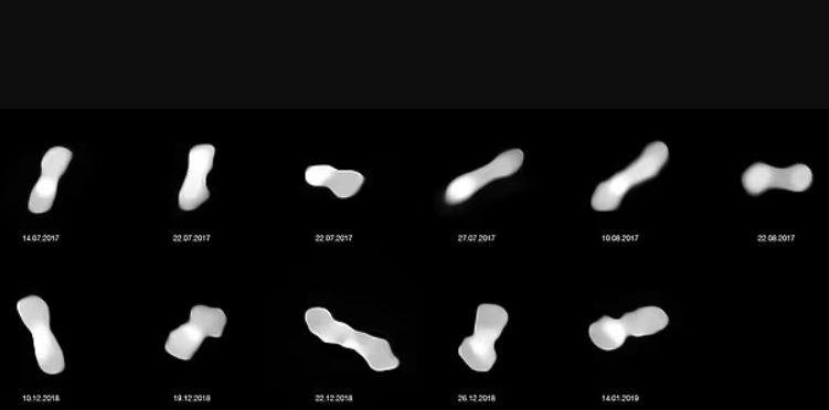 """Asteroide """"hueso de perro"""" denominado """"Kleopatra"""""""