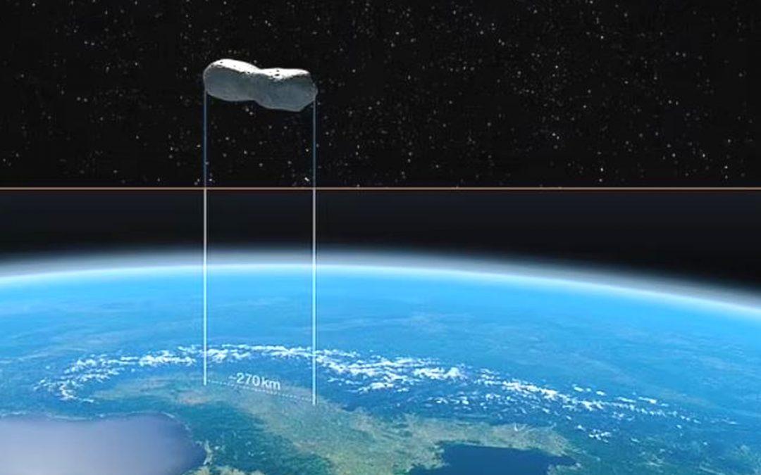Astrónomos fotografían un extraño asteroide de 270 km de largo con forma de hueso