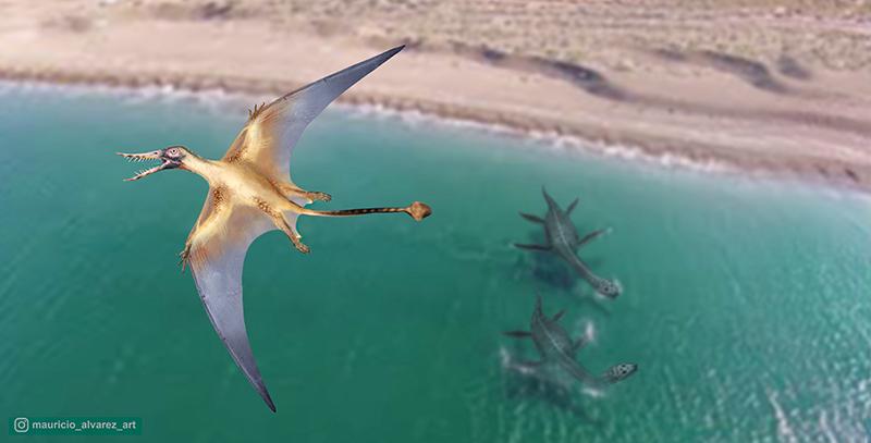 Dragón volador, pterosaurio descubierto en el desierto de Atacama en Chile