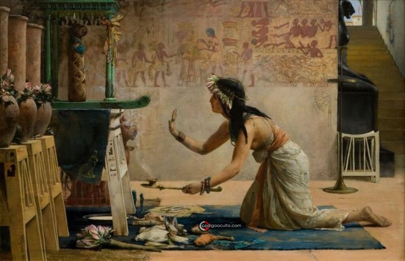 En el antiguo Egipto los gatos eran adorados.  En la imagen: John Reinhard Weguelin - Las exequias de un gato egipcio