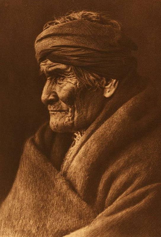 Retrato de Geronimo en 1905