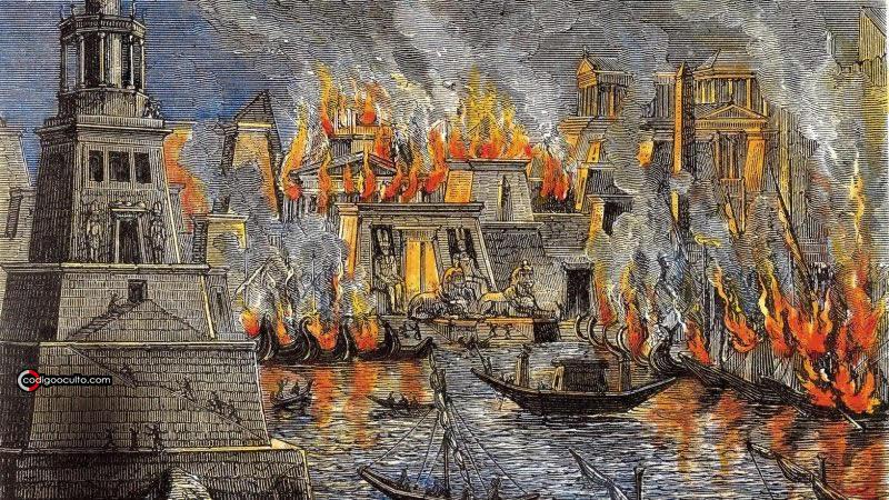 Incendio en la Biblioteca de Alejandría