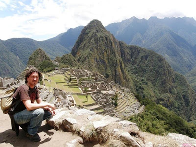 José Antonio Caravaca retratado en Machu Pichu