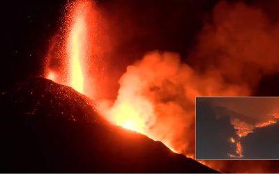 Lava del volcán de isla La Palma finalmente llega al mar generando gases tóxicos