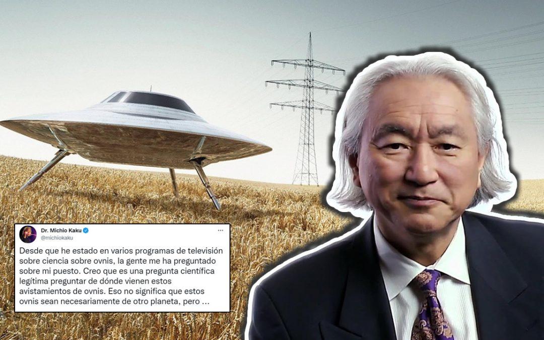 """Michio Kaku pide a sus colegas científicos """"tener mente abierta"""" con respecto a los OVNIs"""