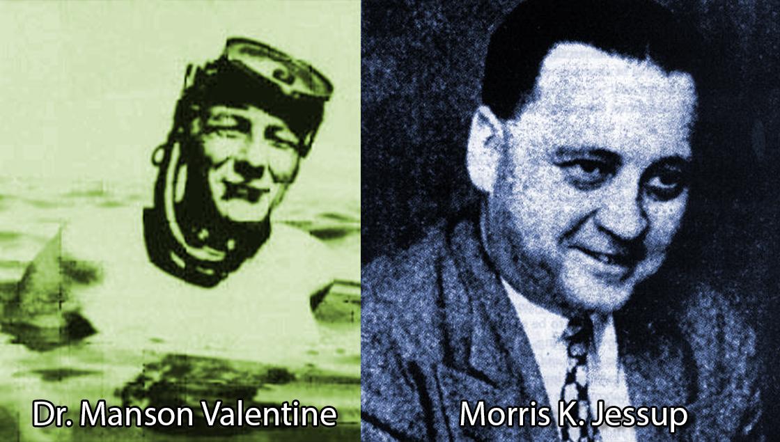 Dr. Manson Valentine y Morris K. Jessup