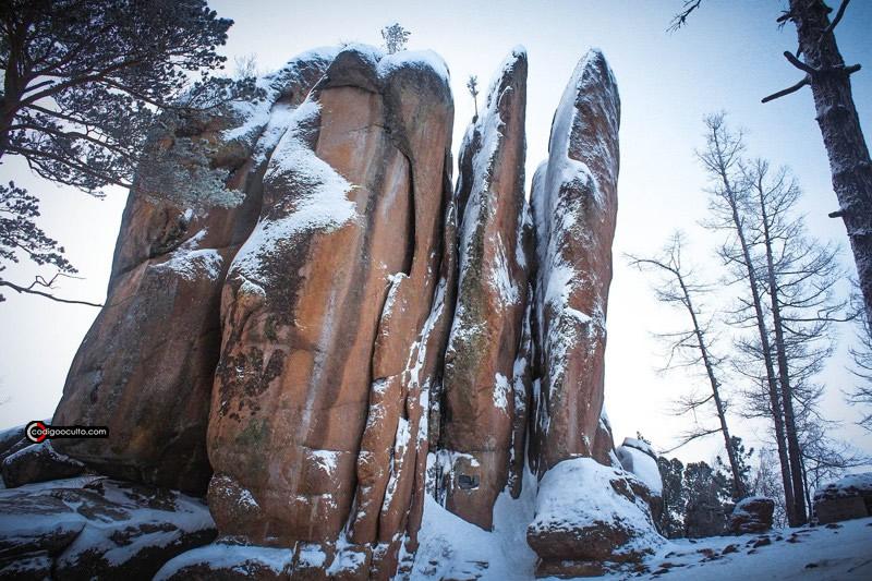La altura de las rocas es de solo 42 metros