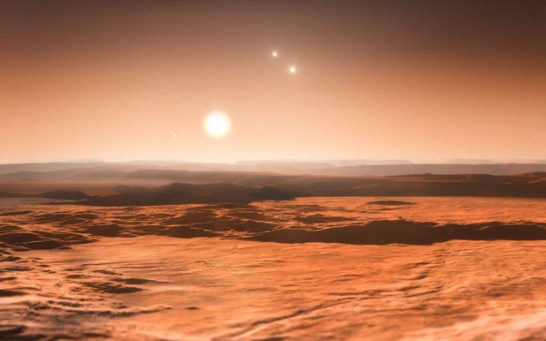 Este podría ser el primer planeta hallado orbitando tres soles a la vez