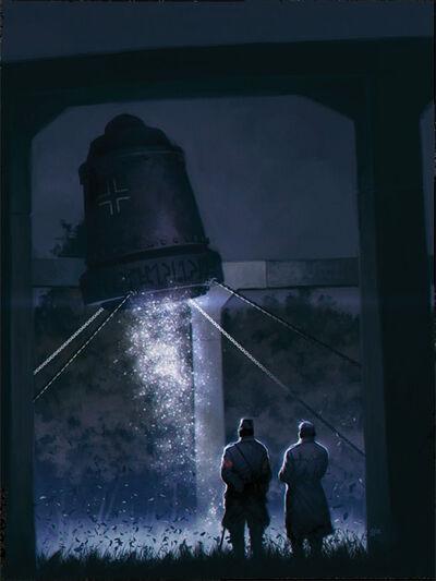 Según Igor Witkowski, la campana estaba sujetada por pesadas cadenas