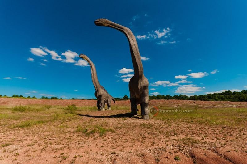 Representación de dinosaurios