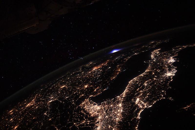 El extraño resplandor observado desde la Estación Espacial Internacional (ISS)