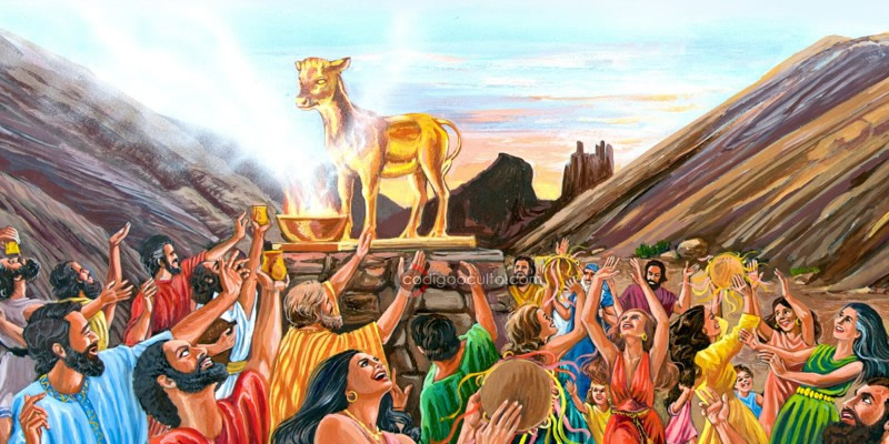 Una representación del becerro de oro