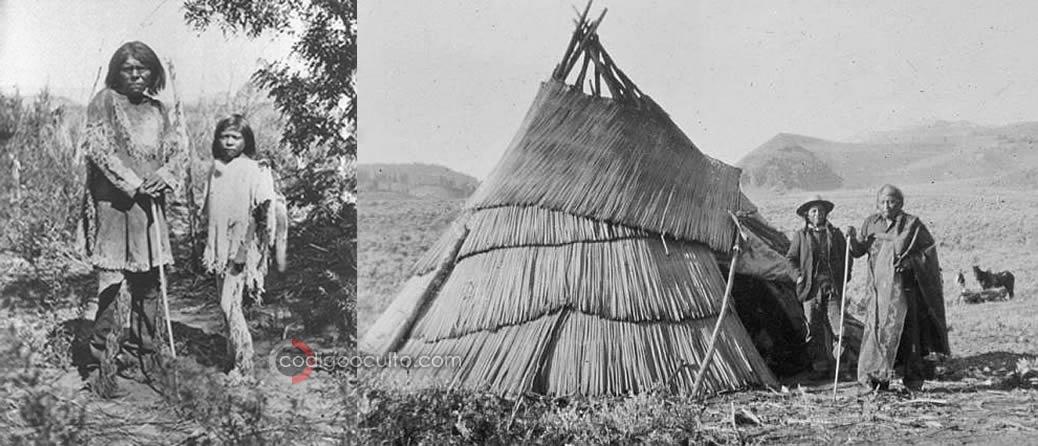 Fotografías de miembros de tribus Pauites